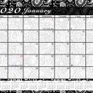 2020 Monthly Magnetic/Desk Calendar - 12 Months Desktop/Wall Calendar/Planner -  (Edition #010)