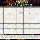 2020 Monthly Magnetic/Desk Calendar - 12 Months Desktop/Wall Calendar/Planner - (Edition #01)