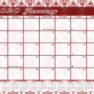 2020 Monthly Magnetic/Desk Calendar/Wall Calendar / - 12 Months Planner - (Damask Edition #23)