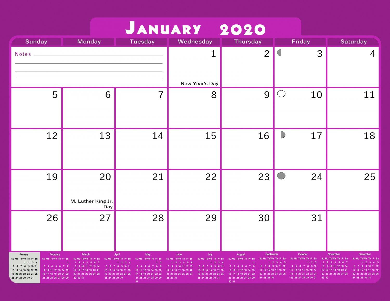 2020 Monthly Magnetic/Desk Calendar - 12 Months Desktop/Wall Calendar/Planner - (Edition #20)