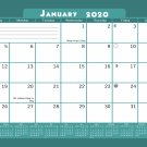 2020 Monthly Magnetic/Desk Calendar - 12 Months Desktop/Wall Calendar/Planner - (Edition #19)