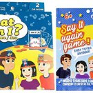 SAY IT Again (Guess -The Phrase) & What AM I Card Games (2 Games) 2 OR More Players