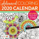 Advancend Coloring - 2020 Desk Calendar Planner - Includes Fold - Out Stand