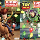 Disney Toy Story - Jumbo Coloring & Activity Book (Set of 2)