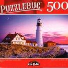 Portland Head Light, Cape Elizabeth, Main - 500 Pieces Jigsaw Puzzle