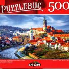 Red Tile Roofs and Towers of The Cesky Crumlov Old Town, Czech Republic - 500 Pieces Jigsaw Puzzle