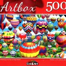 Colorful Balloons in The Sky by Sergio Botero - 500 Pieces Jigsaw Puzzle