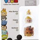"Disney Tsum Tsum Series 3 Miss Bunny, Happy & Bullseye 1"" Minifigure 3-Pack #310, 205 r026"
