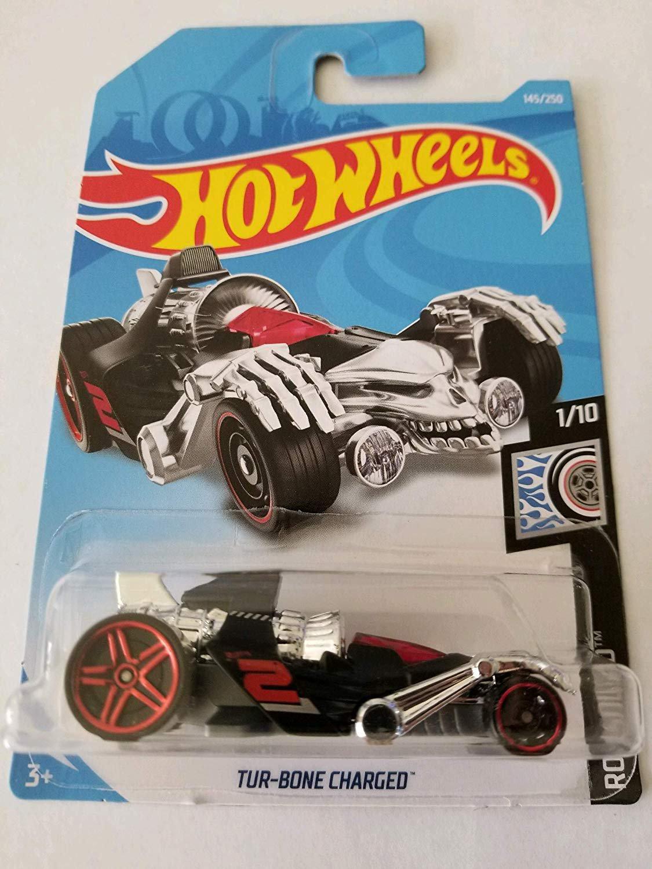 Hot Wheels 2019 Rod Squad 145/250: Tur-Bone Charged (Black/Red) - Int. Card