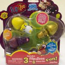 FlipaZoo Series 1 pack of 3 mini (assorted figures) Approx 2 inches X 1 inch, Multi, small