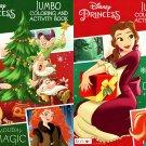 Disney Princess Christmas Edition Holiday - Jumbo Coloring & Activity Book - (Set of 2)