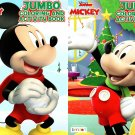 Disney Junior Mickey - Christmas Edition Holiday - Jumbo Coloring & Activity Book - (Set of 2)