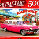 Pink 1958 Studebaker by the Boardwalk - 500 Pieces Jigsaw Puzzle
