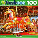 Puzzlebug Colorful Carousel Horse 100 Piece Jigsaw Puzzle