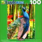 Puzzlebug Peacock in Orchid Garden 100 Piece Jigsaw Puzzle