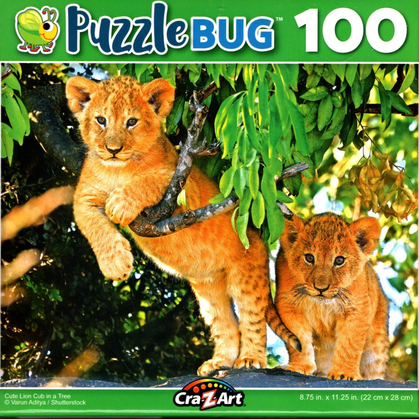 Puzzlebug Cute Lion Cub in a Tree 100 Piece Jigsaw Puzzle