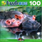 Puzzlebug Mommy and Baby Hippo 100 Piece Jigsaw Puzzle