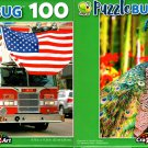 Fire Truck Parade and Peacock in Orchid Garden - 100 Pieces Jigsaw Puzzle (Set of 2)