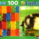 Cute Little Duckling and Lolly Bears - 100 Pieces Jigsaw Puzzle (Set of 2)