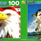 American Eagle and Great White Shark - 100 Pieces Jigsaw Puzzle (Set of 2)