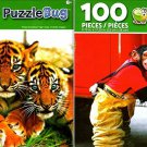 Three Sumartran Tiger and Champy The Fire - Fighting Champ! - 100 Pieces Jigsaw Puzzle (Set of 2)