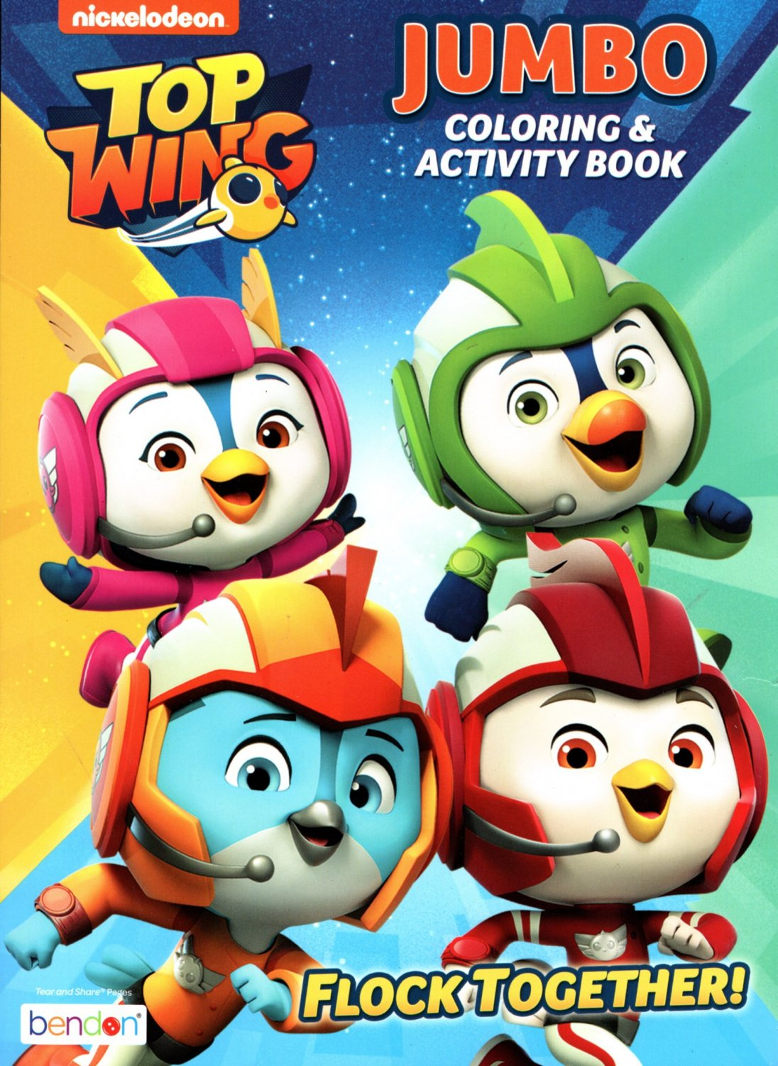 Nickelodeon - Top Wing - Jumbo Coloring & Activity Book - Flock Together