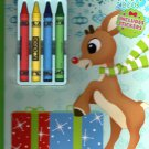 Rudolph Red - Nosed Reindeer - Activity Book - Guide My Sleigh - Includes Stickers v3