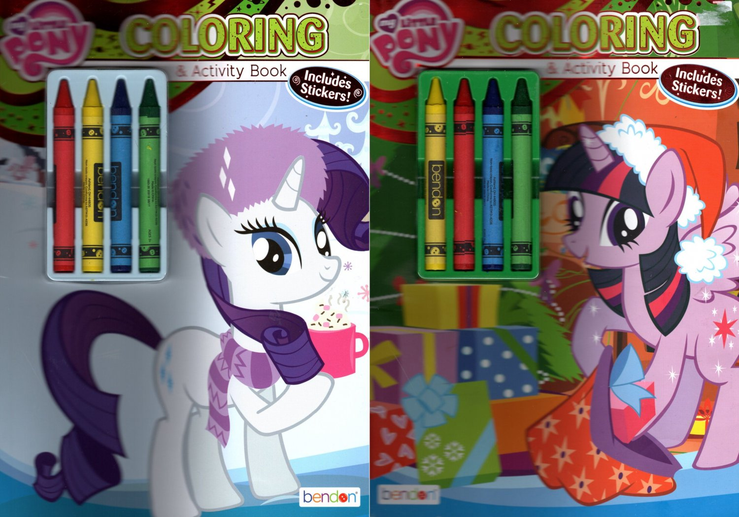 My Little Pony - Christmas Edition Holiday - Coloring & Activity Book - Includes Stickers  Set of 2