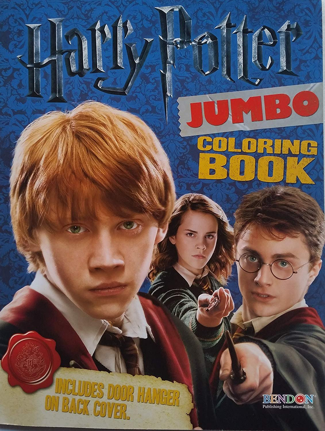 """HARRY POTTER Jumbo Coloring Book: 11"""" X 8"""" with Bonus Bookmarks! 64 Pages!! Red Cover!"""
