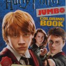 "HARRY POTTER Jumbo Coloring Book: 11"" X 8"" with Bonus Bookmarks! 64 Pages!! Red Cover!"