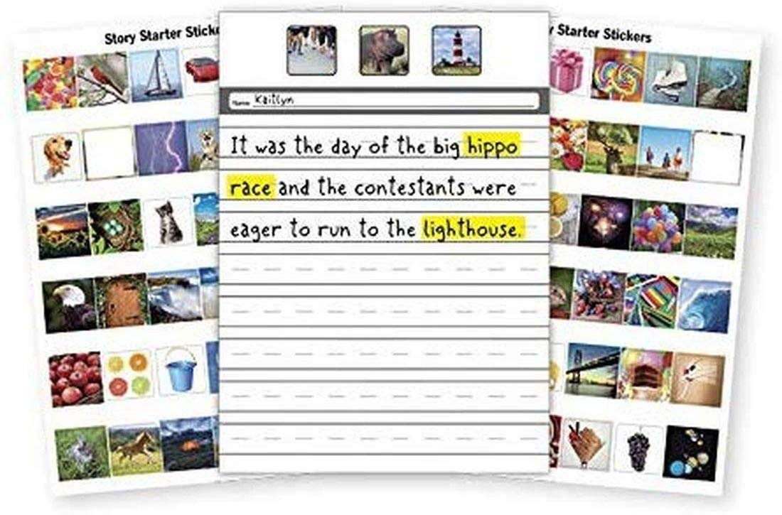Apple House Story Starter Kit - 24 Writing Pages and 72 Stickers to Help to Create Your Story