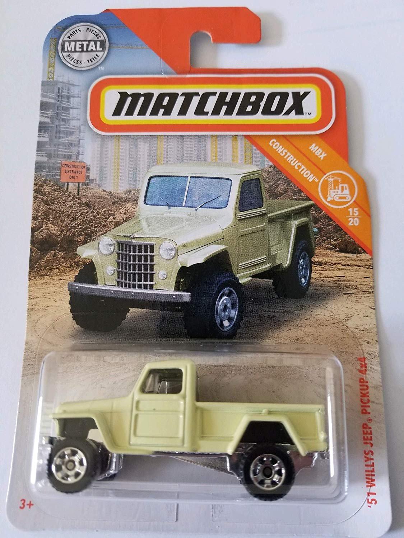 Matchbox 2019 MBX Construction 15/20 - '51 Willys Jeep Pickup 4x4