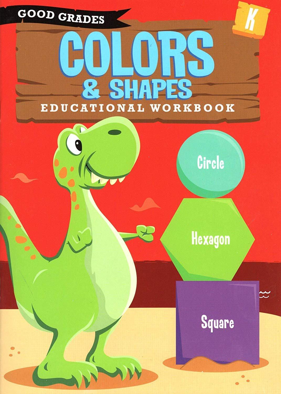 Good Grades Kindergarten Educational Workbooks Colors & Shapes - v2
