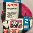 Who-Rae Twist Car Side Window Shade Pink w/ Panda Set of 2 r 020