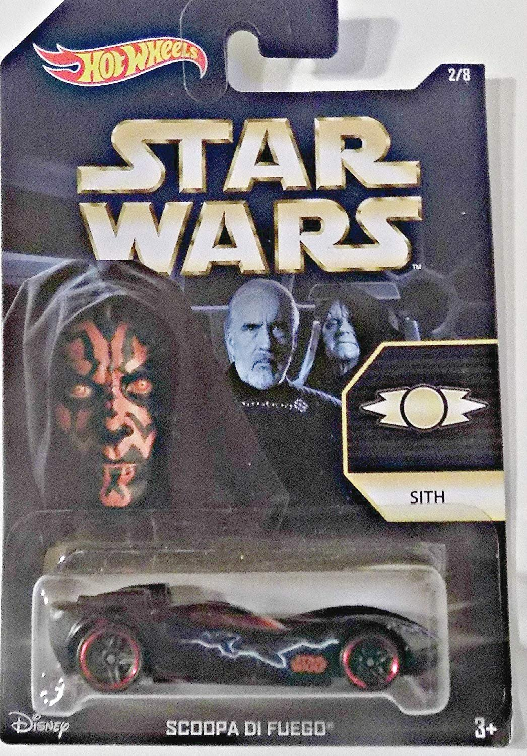 Hot Wheels, Star Wars, Exclusive Sith (Darth Maul) Scoopa Di Fuego Die-Cast Car 2/8
