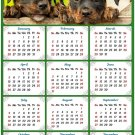 2020 Magnetic Calendar - Calendar Magnets - Today is My Lucky Day - Dog Themed 4