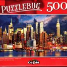 Manhattan Midtown Skyline at Twilight Over Hudson River NYC - 500 Pieces Jigsaw Puzzle