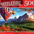 Ballooning Over The Alps - 500 Pieces Jigsaw Puzzle
