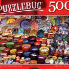 Grand Bazzar Colorful Pottery, Istanbul, Turkey - 500 Pieces Jigsaw Puzzle