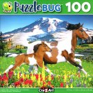 Puzzlebug Lewitzer Mare Galloping with Foal in Meadow 100 Piece Jigsaw Puzzle