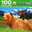 Puzzlebug Grizzly Cub and Mom 100 Piece Jigsaw Puzzle