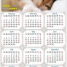 2020 Magnetic Calendar - Calendar Magnets - Today is My Lucky Day - Cat Themed 4