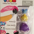 Color Pop! Tsum Tsum 3-Pack Figures: Mickey/Tinker Bell/Cheshire Cat