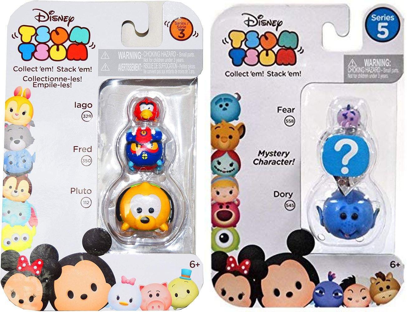 Disney Tsum Tsum Series 3 Iago, Fred & Pluto 1 and Dory/HIDDEN/Fear (Set of 2) - r015