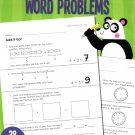 Addition and Subtraction Word Problems Reproducible Educational Workbook - Grades 1-2 -v4