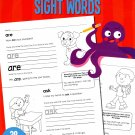 Early Learning - Sight Words Educational Workbook - Reproducible - Grades K-1