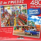The Local Five and Dime  / Seligmans, Route 66, AZ  - Total 480 Piece 2 in 1 Jigsaw Puzzles - p004