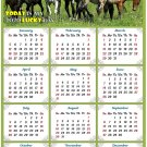 2020 Magnetic Calendar - Calendar Magnets - Today is My Lucky Day - Horses Edition #002