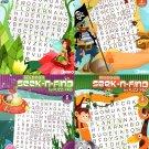 Beginner Seek-N-Find Word Search Puzzle Books Vol 1 - 4 (Set of 4 Books)