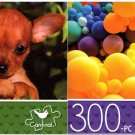 Toy Terrier & Balloons - 300 Piece Jigsaw Puzzle - p014 (Set of 2)